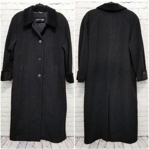 LONDON FOG   Delia black wool blend winter coat